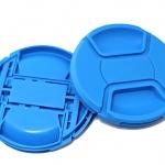 ฝาปิดหน้าเลนส์บีบกลาง สีฟ้า 49 mm