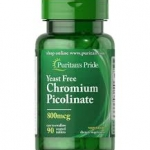 Puritan's Pride Chromium Picolinate 800 mcg Yeast Free / 90 Tablets