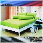 ผ้าปูที่นอนสีพื้น (สีเขียวตอง)(พื้นเรียบ) ขนาด 6 ฟุต 5 ชิ้น