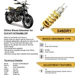 โช๊ค Ohlins สำหรับ Ducati Srambler