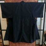Kimono man กิโมโนชาย สีดำกรมท่า แถมโอบิ สภาพ 100%