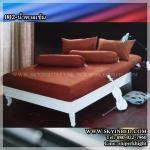 ผ้าปูที่นอนสีพื้น (สีน้ำตาลเข้ม)(พื้นเรียบ) ขนาด 5 ฟุต 5 ชิ้น