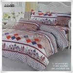 ผ้าปูที่นอน ลายกราฟฟิค เกรด AA ขนาด 6 ฟุต(5 ชิ้น)[AA-151]