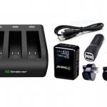Smatree 3 Channal แท่นชาร์จ 3 ช่อง + Adapter Wall Charger Set สำหรับ GoPro Hero5 Black