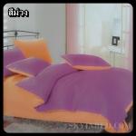 ผ้าปูที่นอนสีพื้น เกรด A สีม่วง ขนาด 6 ฟุต 5 ชิ้น