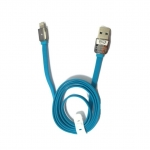 BLL 9026 (Max Output 2.1 A) สาย USB Lightning port For ios Safe&Speed Data สายแบน (สีน้ำเงิน)