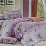 ผ้าปูที่นอนลายดอกไม้ ใบไม้ ผลไม้ เกรด A ขนาด 5 ฟุต(5 ชิ้น)[AF-05]