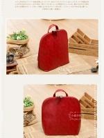 กระเป๋าหนัง pu รุ่นสะพายหลังหรือไหล่แบบเรียบทรงเหลี่ยม**สีแดง**