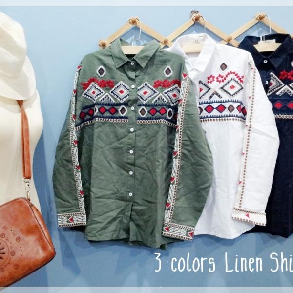 รูปภาพสินค้า Cool Cowboy Shirt Linen 3 colors.