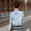 FW5907008 เสื้อแจ็กเก็ตยีนส์ ปกเชิ้ต แขนยาว แฟชั่นเกาหลี (พรีออเดอร์) thumbnail 3