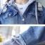 FW6008024 เสื้อแจ็กเก็ตยีนส์เกาหลีตัวสั้นแขนยาวมีฮูดงานคุณภาพพรีเมี่ยมสวยแน่นอน (พรีออเดอร์) รอ3 อาทิตย์หลังโอนเงิน thumbnail 4