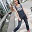 OW5707001 เอี้ยมยีนส์ สาวหวานซ่อนเปรี้ยว ขายาว น่ารัก แฟชั่นเกาหลี (พรีออเดอร์) รอสินค้า 3 อาทิตย์หลังโอนเงิน thumbnail 1