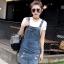 BW6005003 เอี้ยมกระโปรงยีนส์ ขาสั้น คาบอย แฟชั่นเกาหลี (พรีออเดอร์) รอสินค้า 3 อาทิตย์หลังโอนเงิน thumbnail 5