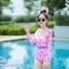 [Free size] ชุดว่ายน้ำวันพีชแขนยาว รุ่น Kanya สีชมพูลายโบว์ thumbnail 3