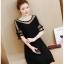 DW6008003 เดรสแฟชั่นสีดำแขนสั้นสาวเกาหลี คอกลม เรียบหรู (พรีออเดอร์) รอสินค้า 3 อาทิตย์หลังโอนเงิน thumbnail 4