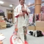 uchikake kimono กิโมโนอูชิคาเคะ สีขาวครีม งานปักดิ้นทอง thumbnail 8