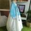 Royal Hanbok ฮันบกชาววัง ไหมเกาหลีสีฟ้าขาว สวยหรู thumbnail 4