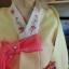 "Hanbok ฮันบก เกรด A+++ แบบต่อปลายแขน สีเหลือง อก 40"" สูง 163 cm. thumbnail 3"