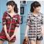 CW5705002 เสื้อกันหนาว มีฮูด ลายสก็อต แฟชั่นเกาหลี (พรีออเดอร์) thumbnail 1
