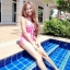 (SizeM) ชุดว่ายน้ำ วันพีช ชุดลายจุดสีชมพู Bikini_sp_005 thumbnail 2