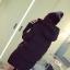 CW5901004 เสื้อโค้ทหญิงตัวยาวมีฮูด ซิปหน้า ผ้าขนเป็ด(พรีออเดอร์) รอ 3 อาทิตย์หลังโอน thumbnail 6