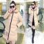CW5711007 เสื้อโค้ทเกาหลี มีฮูด ซิปหน้า ผ้าผสมขนสัตว์ อบอุ่นมาก (พรีออเดอร์) รอ 3 อาทิตย์หลังโอนเงิน thumbnail 4