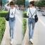 OW5710006 เอี้ยมยีนส์สาวเกาหลี คาบอย น่ารักหวาน (พรีออเดอร์) รอสินค้า 3 อาทิตย์หลังโอนเงิน thumbnail 1