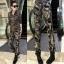 HW5906010 กางเกงทหารหญิงทรงหลวมสีเขียวกองทัพ (พรีออเดอร์) รอ 3 อาทิตย์หลังโอนเงิน thumbnail 4