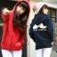 KW5808002 เสื้อกันหนาวมีฮูด ผ้าผสมขนสัตว์สาวเกาหลี (พรีออเดอร์) รอ 3 อาทิตย์หลังชำระเงิน thumbnail 1
