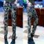 HW5906012 กางเกงทหารหญิงทรงหลวมสีเขียวกองทัพลายพราง (พรีออเดอร์) รอ 3 อาทิตย์หลังโอนเงิน thumbnail 1