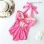 (SizeM) ชุดว่ายน้ำ วันพีช ชุดลายจุดสีชมพู Bikini_sp_005 thumbnail 4