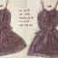 Dress สั้นสายเดี่ยวสีม่วง ราคา 100 บาท thumbnail 3