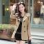 NW5803001 เสื้อกึ่งสูทกันลมสาวเกาหลี กระดุมหน้าสองแถว(พรีออเดอร์) รอ 3 อาทิตย์หลังโอน thumbnail 1