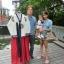"""Royal Hanbok แบบชาววัง (ทังอี) สีขาวครีม กระโปรงสีแดงปักมือ อก 38"""" thumbnail 9"""