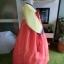 "Hanbok เกรด A+++ ผ้าไหมเกาหลี สีส้มสดใส อก 38"" สูง 165 cm thumbnail 6"