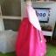 Hanbok เกรด A+++ ผ้าไหมเกาหลี รุ่น Pink Je t'aime#02 โบว์สองสี size M. thumbnail 5