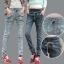 JW5710010 กางเกงยีนส์สาวเกาหลี เอวยาง ทรงฮาเล็ม พร้อมส่ง 32 thumbnail 1