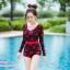 [Free size] ชุดว่ายน้ำวันพีชแขนยาว รุ่น Kanya สีดำลายดอกกุหลาบ thumbnail 2