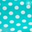 ชุดว่ายน้ำเด็ก สีเขียวเทอร์คอยซ์ลายจุด มีระบายเป็นลูกไม้สีขาวสองชั้น thumbnail 3