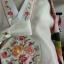 Royal Hanbok ฮันบกชาววัง ไหมเกาหลีขาว แขนสลับ งานปักดิ้นทอง thumbnail 4
