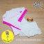[Size S] ชุดว่ายน้ำ แขนยาว รุ่น Minerva (สีขาว-ชมพู) และ กระโปรงระบายล่าง thumbnail 2