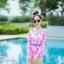 [Free size] ชุดว่ายน้ำวันพีชแขนยาว รุ่น Kanya สีชมพูลายโบว์ thumbnail 4