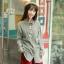 GW5712006 เสื้อเชิ้ตสาวเกาหลี ตาหมากรุกแต่งการ์ตูน น่ารัก (พรีออเดอร์)รอสินค้า 3อาทิตย์หลังโอนเงิน thumbnail 1