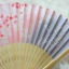 Kimono fan (sensu / ougi) พัดญี่ปุ่นสีชมพูม่วง ลายกลีบซากูระ thumbnail 2