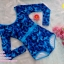 [Free size] ชุดว่ายน้ำวันพีชแขนยาว รุ่น Kanya สีน้ำเงินลายกราฟิก thumbnail 6