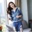 FW6008024 เสื้อแจ็กเก็ตยีนส์เกาหลีตัวสั้นแขนยาวมีฮูดงานคุณภาพพรีเมี่ยมสวยแน่นอน (พรีออเดอร์) รอ3 อาทิตย์หลังโอนเงิน thumbnail 2