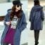KW5808001 เสื้อกันหนาวมีฮูด ผ้าผสมขนสัตว์สาวเกาหลี (พรีออเดอร์) รอ 3 อาทิตย์หลังชำระเงิน thumbnail 1
