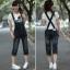 OW5803004 เอี้ยมกางเกงยีนส์สาวเกาหลี 8 ส่วน คาบอยน่ารัก (พรีออเดอร์) รอสินค้า 3 อาทิตย์หลังโอนเงิน thumbnail 1