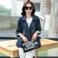 FW6008013 เสื้อแจ็กเก็ตยีนส์คอปกแขนยาวแฟชั่นเกาหลี (พรีออเดอร์) thumbnail 1