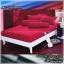ผ้าปูที่นอนสีพื้น (สีแดงเลือดหมู)(พื้นเรียบ) ขนาด 3.5 ฟุต 3 ชิ้น thumbnail 1